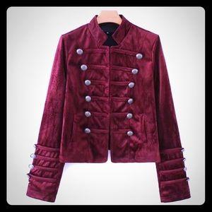 Jackets & Blazers - VELVET MILITARY JACKET💋SALE💋